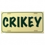 Crikey Number Plate